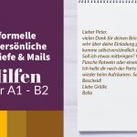Deutsch-Blog Brief - Deutsch schreiben: informeller Brief / Mail